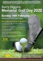 Barry Higgins Memorial Golf Day 2020